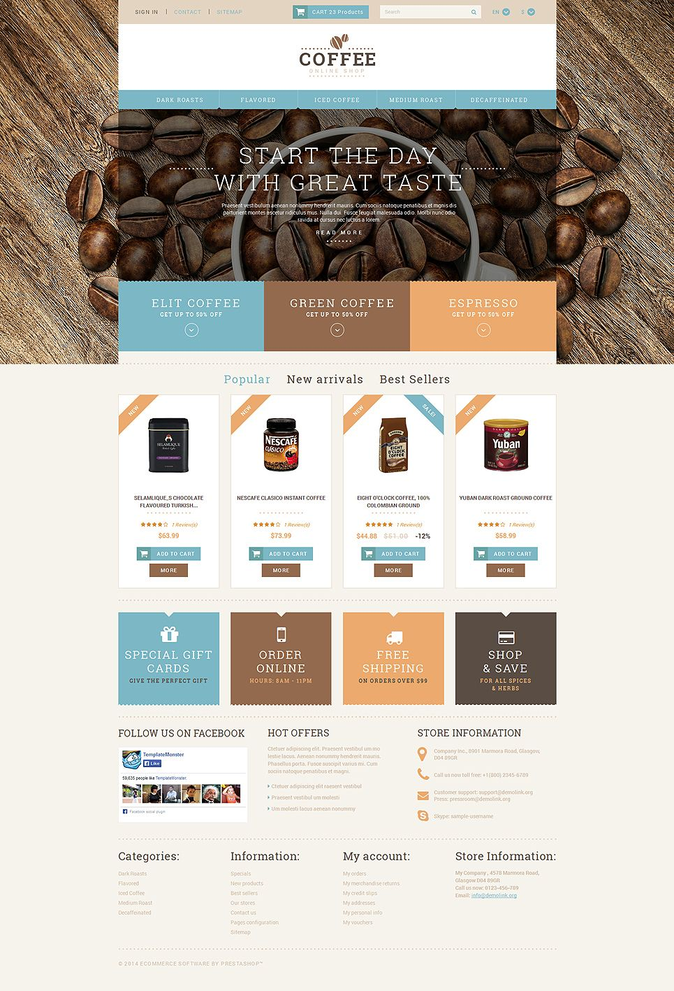 12 Best Coffee Supplier Store Ecommerce Store Prestashop Themes Buildify Prestashop Themes Coffee Shop Coffee Design