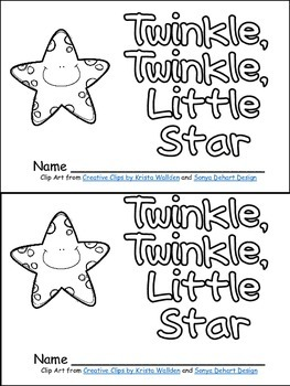 Twinkle Twinkle Little Star Book Poster More Kindergarten