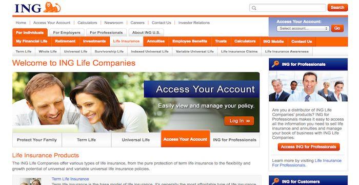 Ing Life Insurance Login Ing Us Voya Financial Online Online