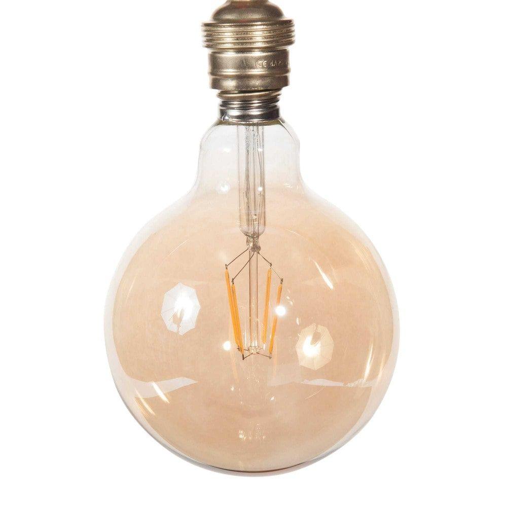 LED-Glühbirne aus getöntem Glas D 13 cm GLOBUS AMBRE