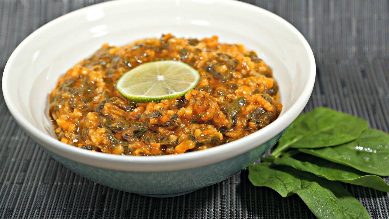 Vegan Egyptian Spinach Recipe طريقة عمل سبانخ مصرية نباتية صيامي Egyptian Food Spinach Recipes Recipes