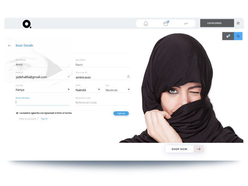 Arabian Commercial Fashion Landing Page