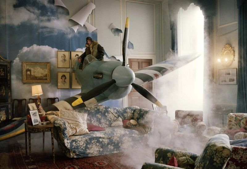 Michael Hoppen Contemporary - Artist - Tim Walker - Story Teller - Jonas Kesseler in Blue Spitfire, Glemham Hall, Suffolk UK, British Vogue ...