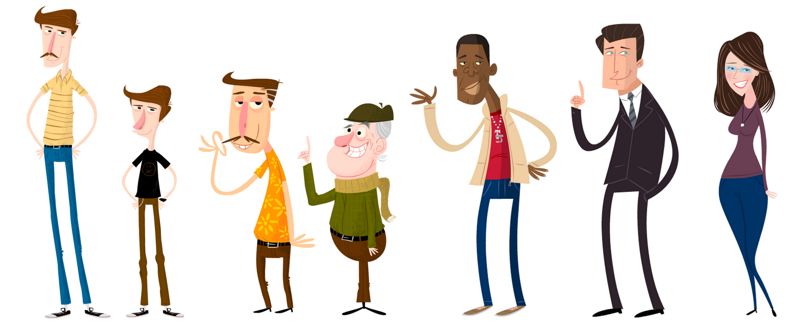 fun characters | Simple character, Vector character design, Character design
