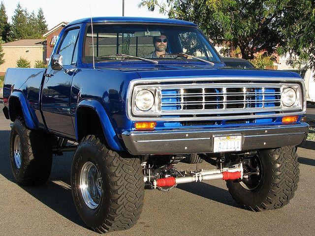mid 70 s Lifted Dodge 4x4 pickup   Wheels   Pinterest   4x4, Light