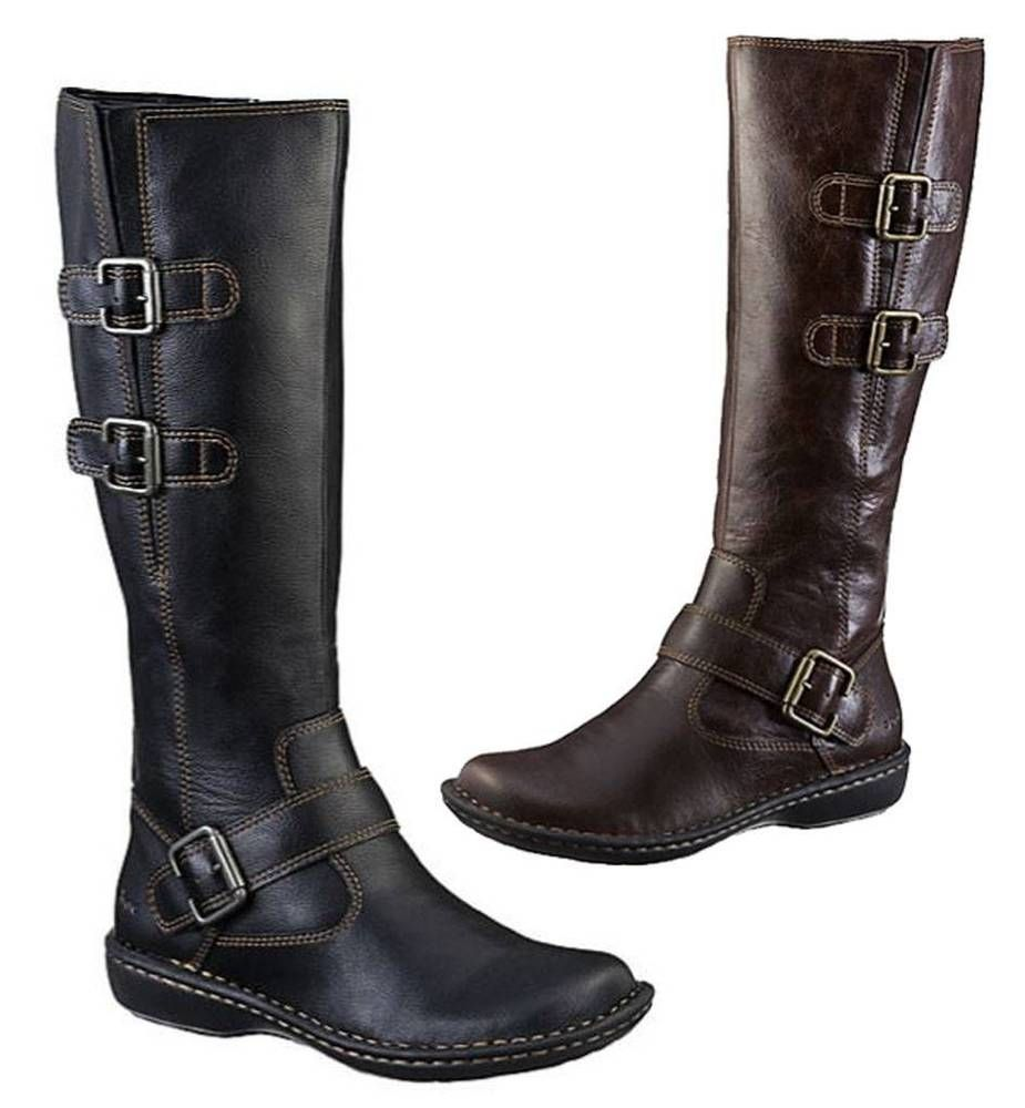d25ef92acc80 b.o.c by Born Rich Leather Look Tall Boots in Black and Brown - Wide Calf