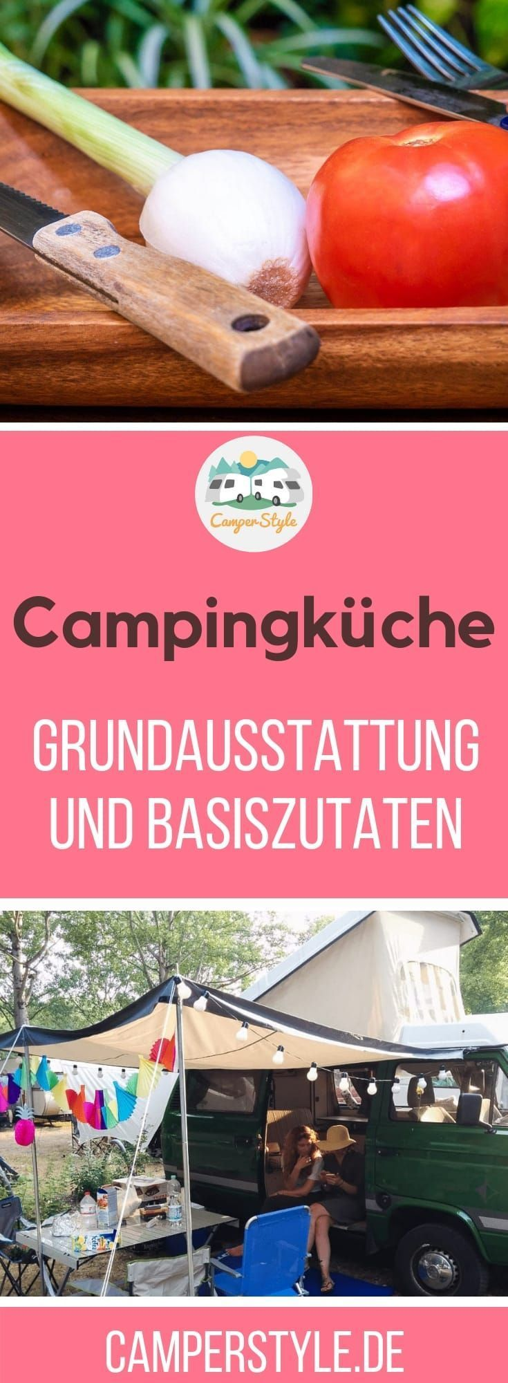 #Essen und Trinken muss man auch beim #Camping. Wieso nicht das #Kochen für unterwegs etwas vereinfachen? Hier findest du Tipps und Hilfestellungen für die #Campingküche. Alles zu Grundausstattung und Basiszutaten. #camping gear list Camping-Küche: Grundausstattung und Basiszutaten für den Genuss unterwegs