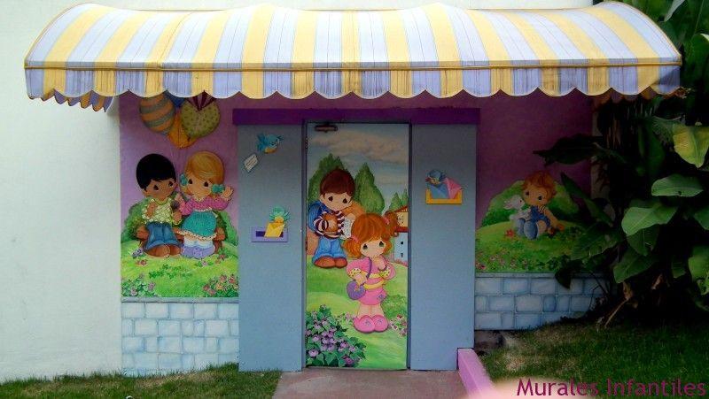 p 60 Decoración de colegio con murales infantiles.