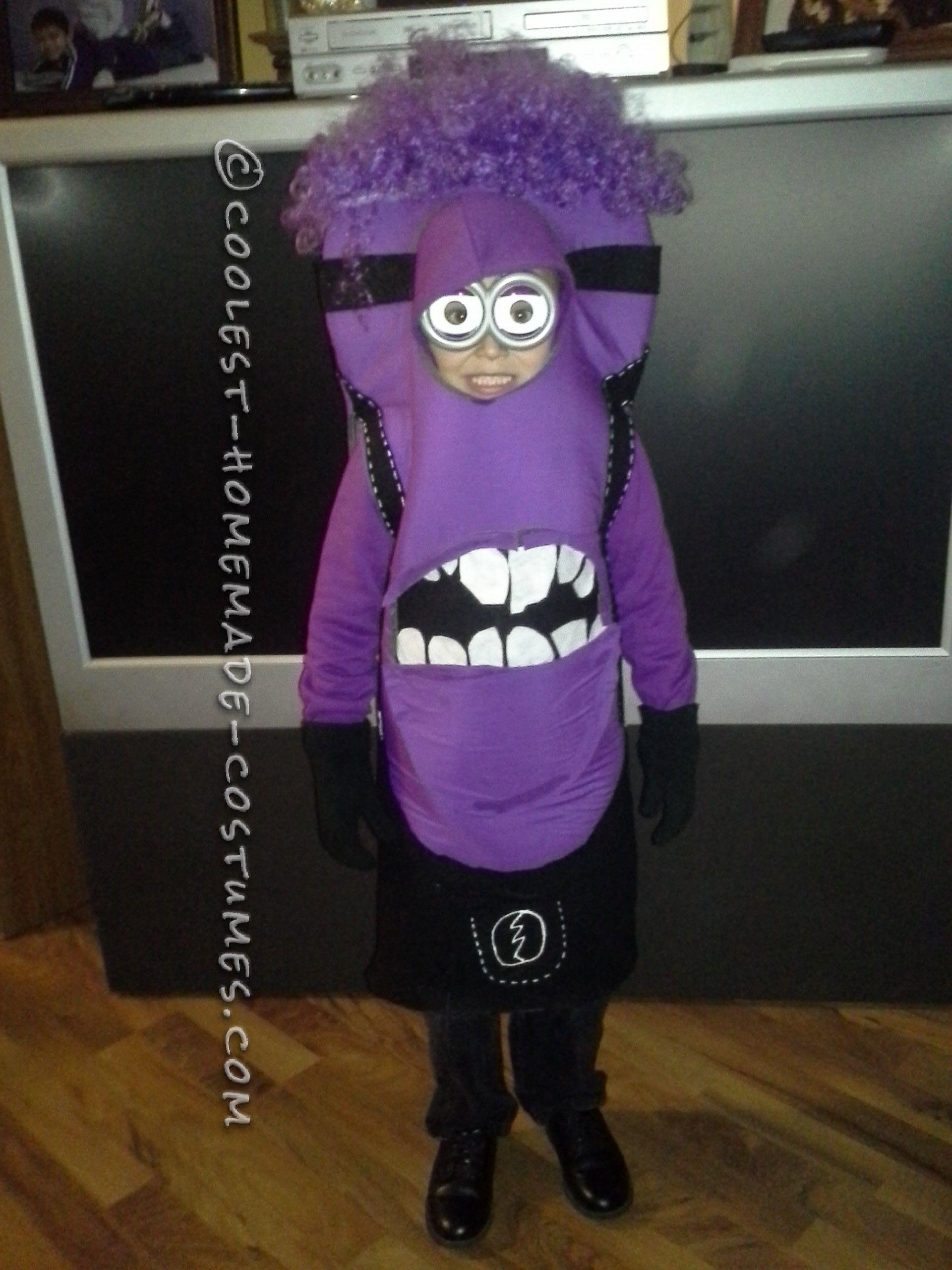 Coolest Purple Minion Costume for a Kid Purple minion costum