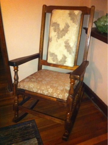 Awesome Comfy Old Rocking Chair A Suggestion From Maggie Swallow Theyellowbook Wood Chair Design Ideas Theyellowbookinfo