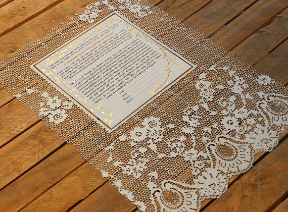 Papercut Ketubah Jewish Wedding Lase Cut Ketuba Modern