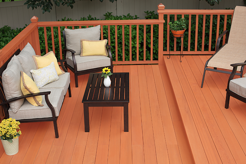 The New Thompson S Waterseal Waterproofing Stains Now Available At The Home Depot In Woodland Cedar Deck Stain Colors Staining Deck Summer Deck