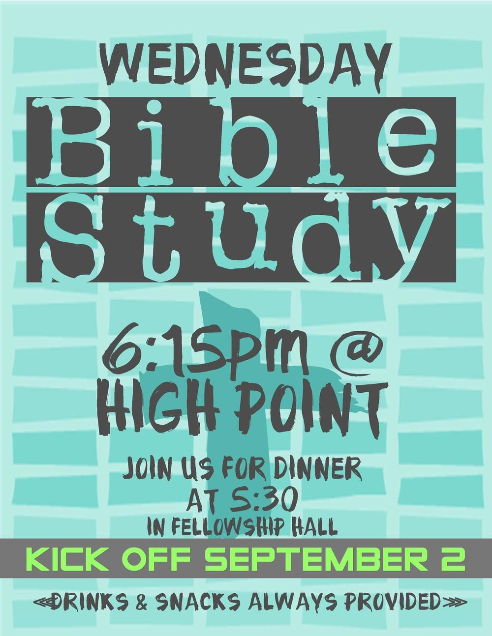 Confirm. join adult bible study young think