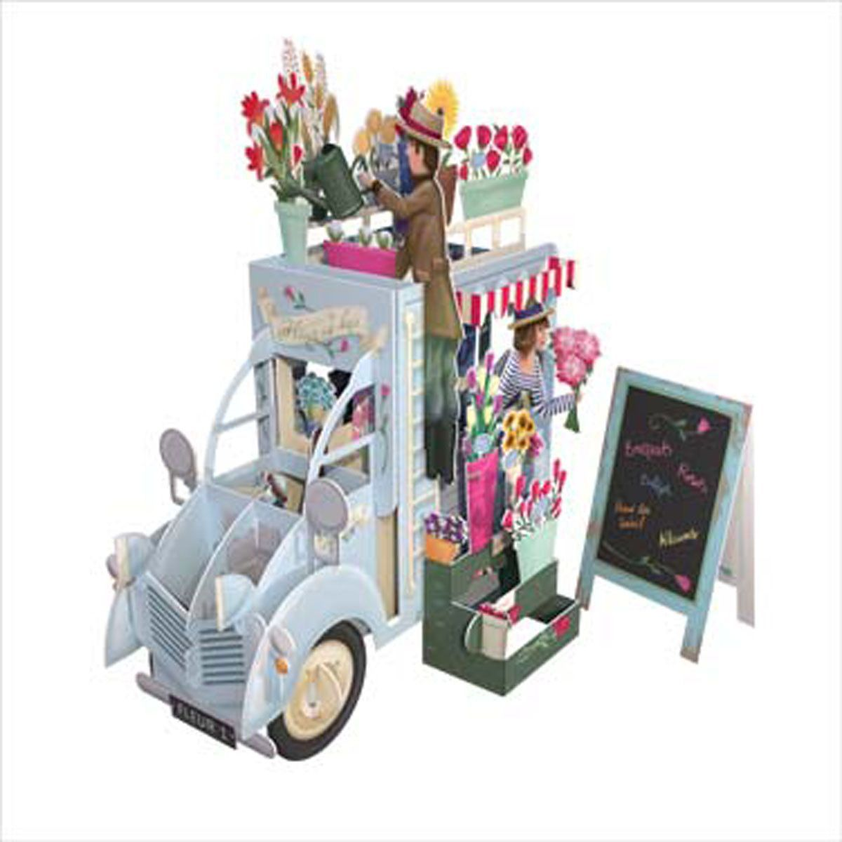 Buy Now 3D Pop Up Card Flower Truckinpcreative – Cheap Birthday Cards Free Delivery