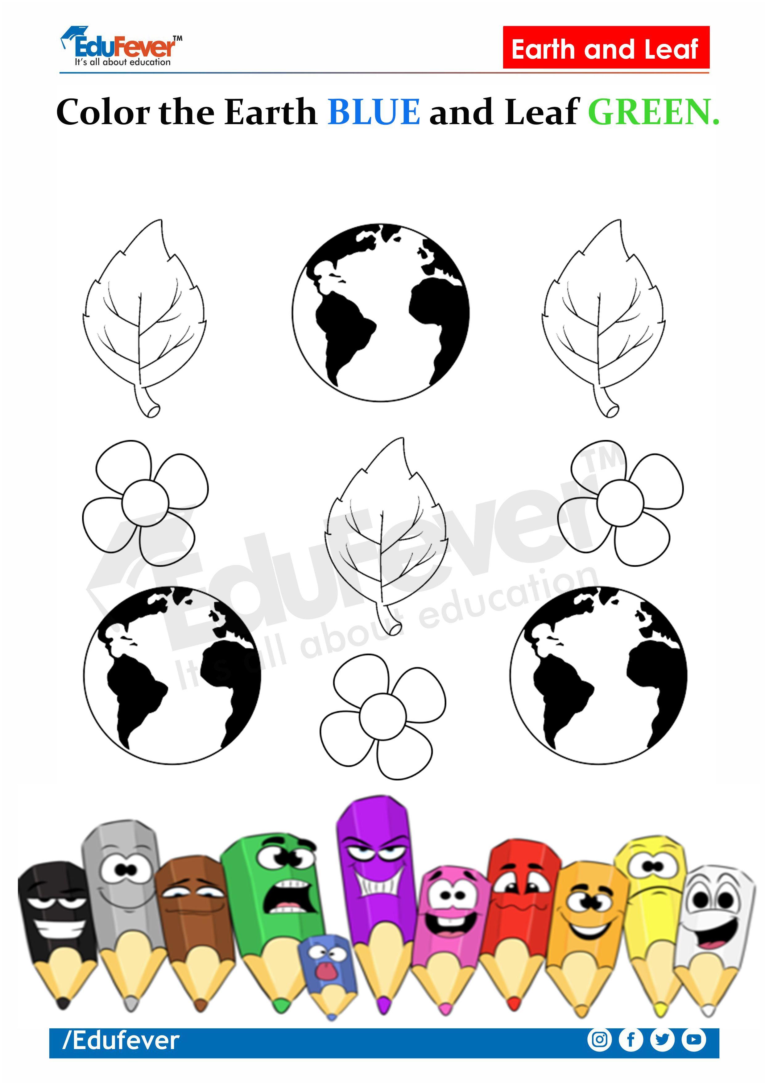Lkg Worksheet Color The Object In Described Color In