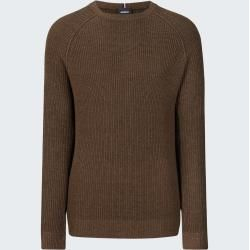 Photo of Rocco-Strickpullover, melierter brauner Strellson