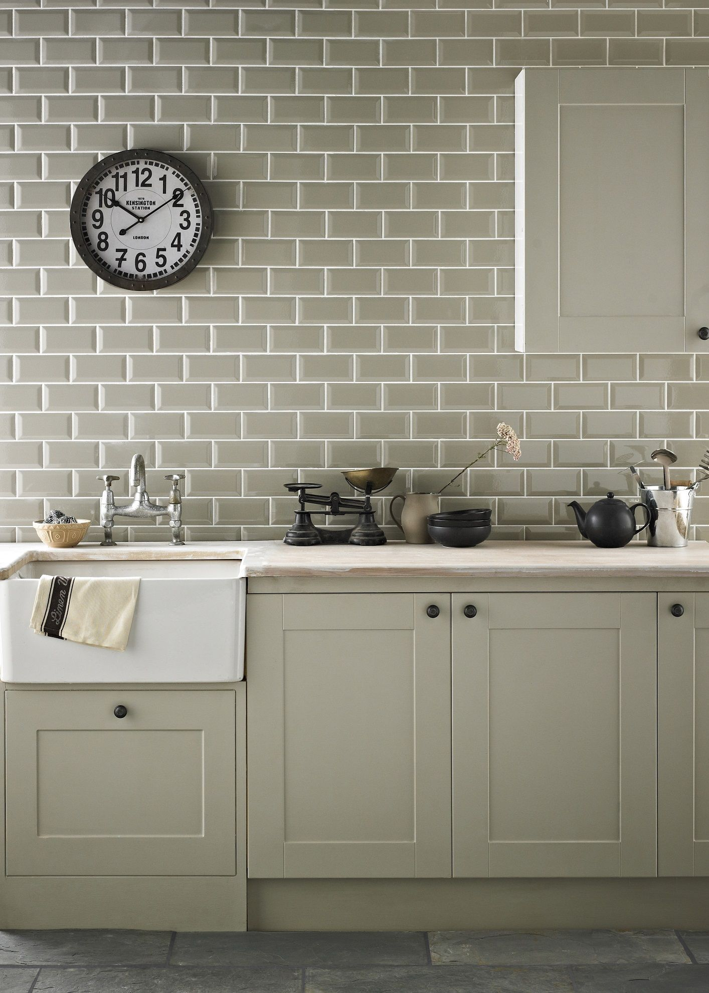 Wall Tiles For Kitchen Chartwell Sage With Cabinets Ideas For The House Pinterest