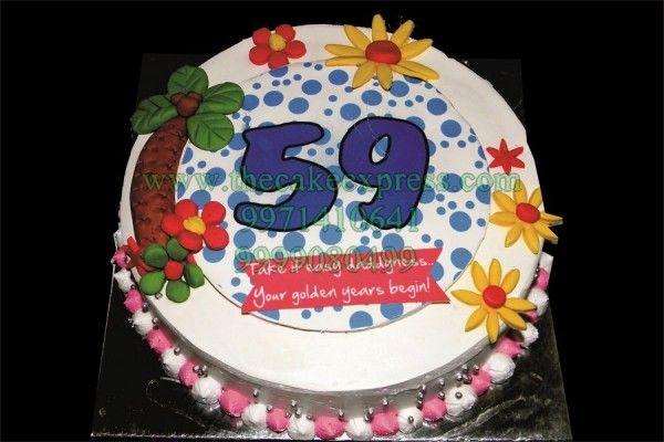59th Birthday Cake With Images 59 Birthday Unique Birthday