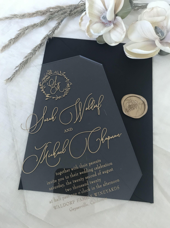 Pin on Clear acrylic wedding invitations