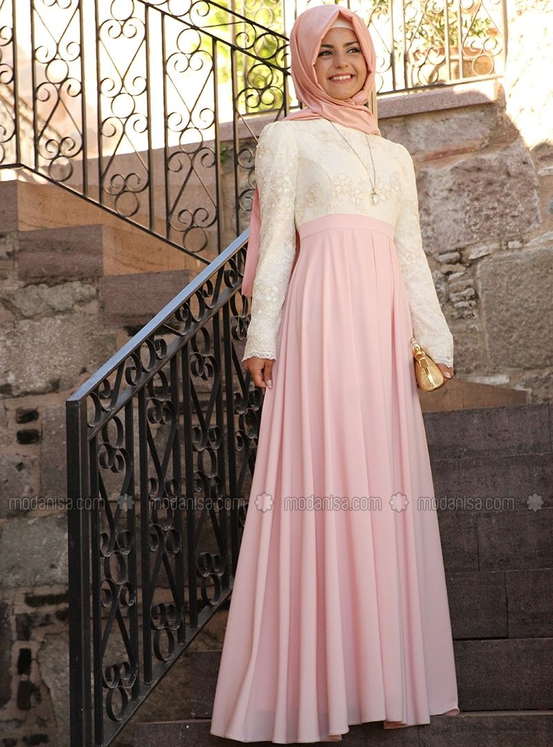 Lace Pleated Dress Ecru Pinar Sems Dresses Hijab Wedding Dresses Class Dress