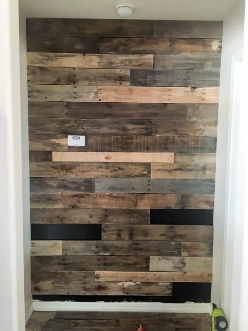 How To Install A Pallet Wall The Easy Way Wooden Pallet
