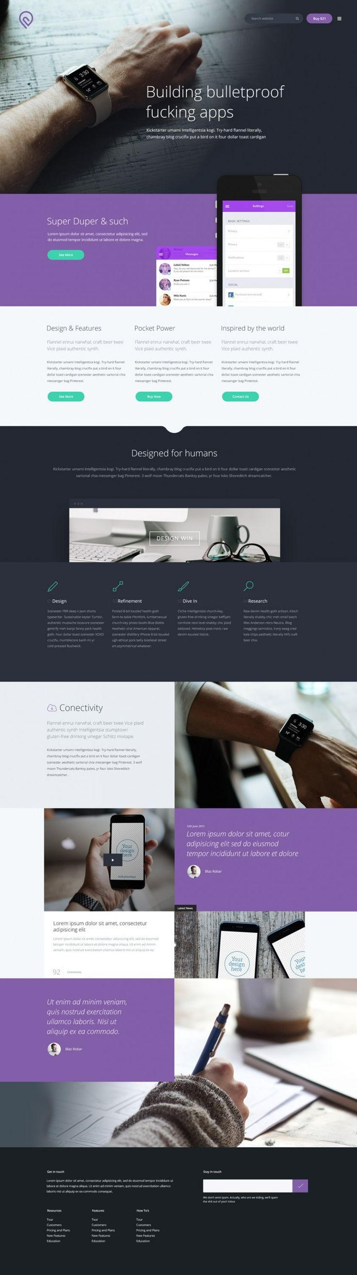 Tork Free PSD website template … | Pinteres…