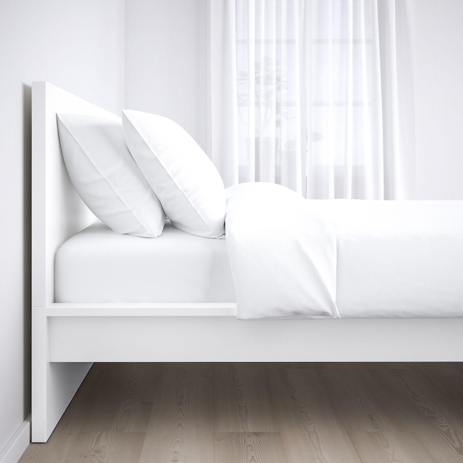 Malm Okvir Kreveta Visoki Bijela Lonset 160x200 Cm Ikea In 2020 White Bed Frame Malm Bed Frame Malm Bed