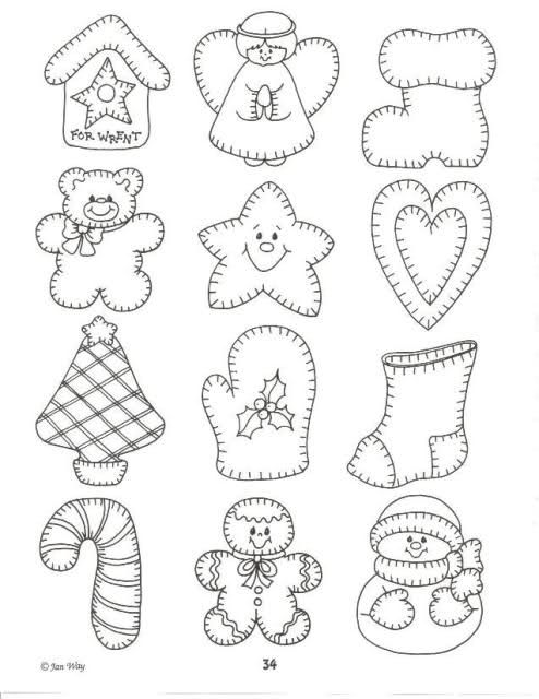 Moldes patchwork Navidad - Imagui | Navidad patchwork | Pinterest ...