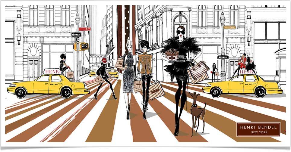 Megan Hess Illustration for Henri Bendel