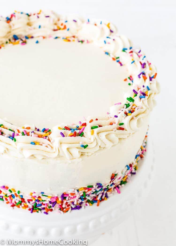 Fabulous Eggless Vanilla Cake Recipe Eggless Vanilla Cake Recipe Cake Personalised Birthday Cards Akebfashionlily Jamesorg