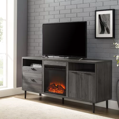 Eglinton Tv Stand For Tvs Up To 65 With Fireplace Included Fireplace Tv Stand Electric Fireplace Modern Fireplace 65 inch tv stand with electric fireplace