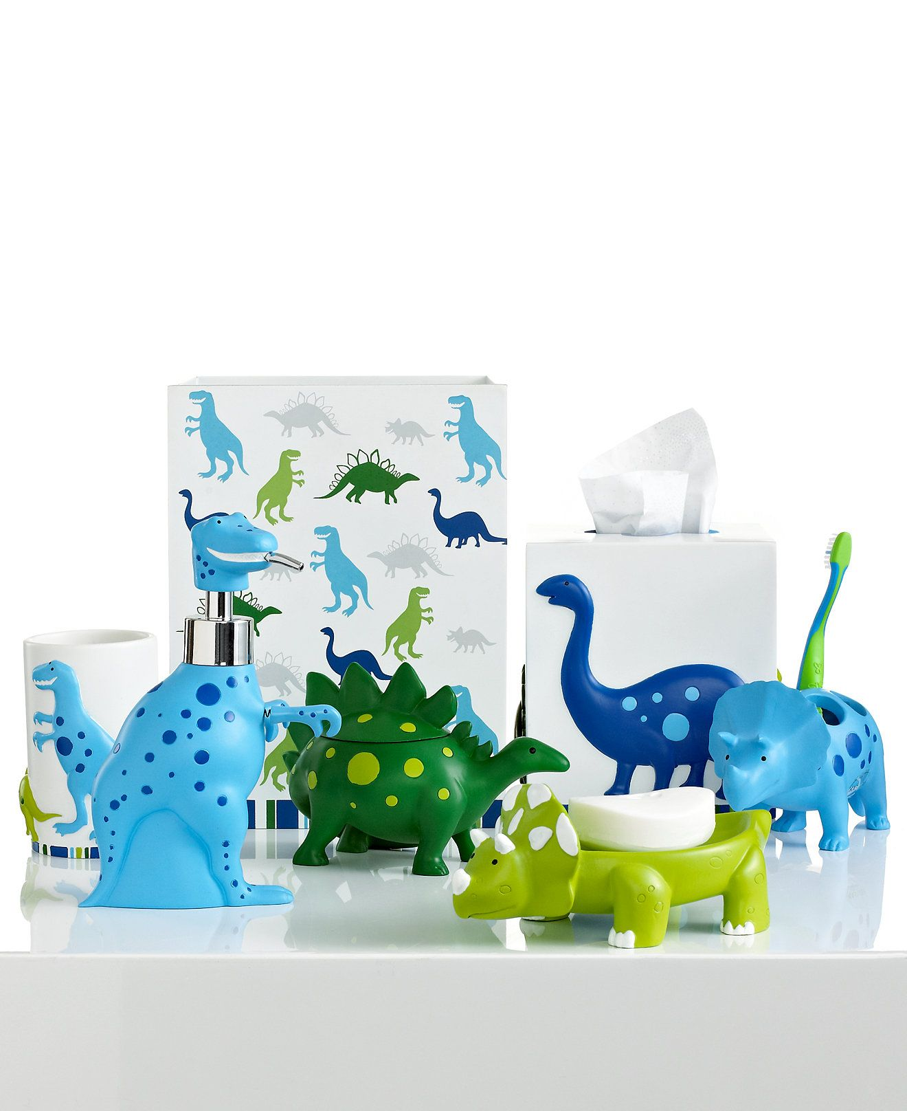 Bathroom Accessories Kids kassatex bath accessories, dino park collection - bathroom