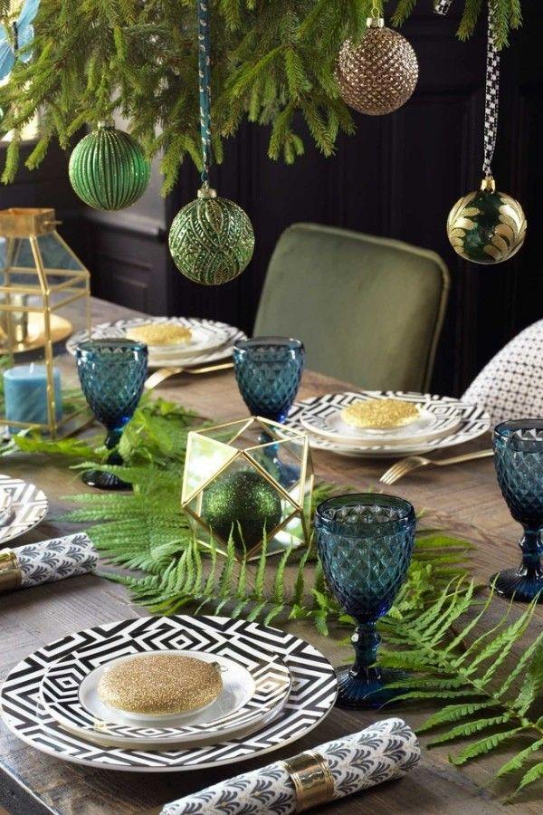 tendance no l 2019 d co couleurs sapins table de no l. Black Bedroom Furniture Sets. Home Design Ideas