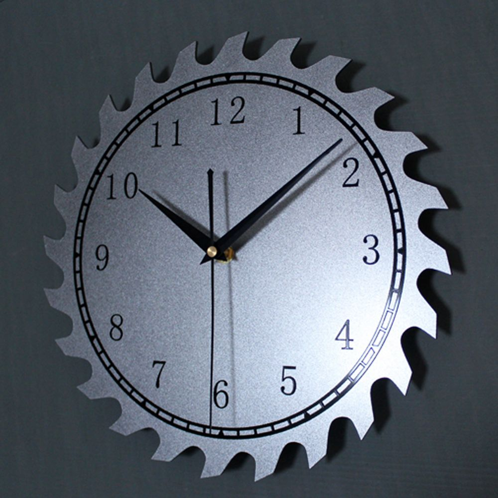 Original Metal Texture Wheel Gear Wall Clock Art Creative Design