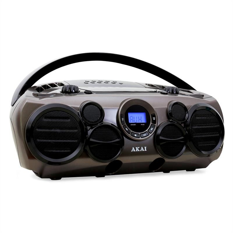 Akai Aprc90at Portable Boombox Ghettoblaster Cd Player Usb Aux Mp3 Click To Enlarge Image