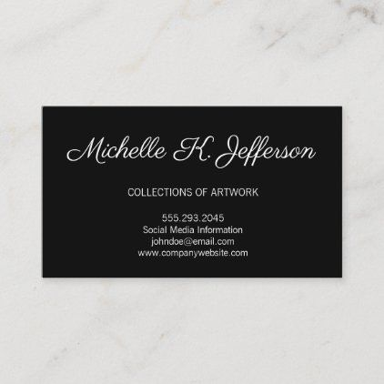 Black Minimalist Executive Lux Business Card Zazzle Com Luxe Business Cards Trendy Business Cards Colorful Business Card