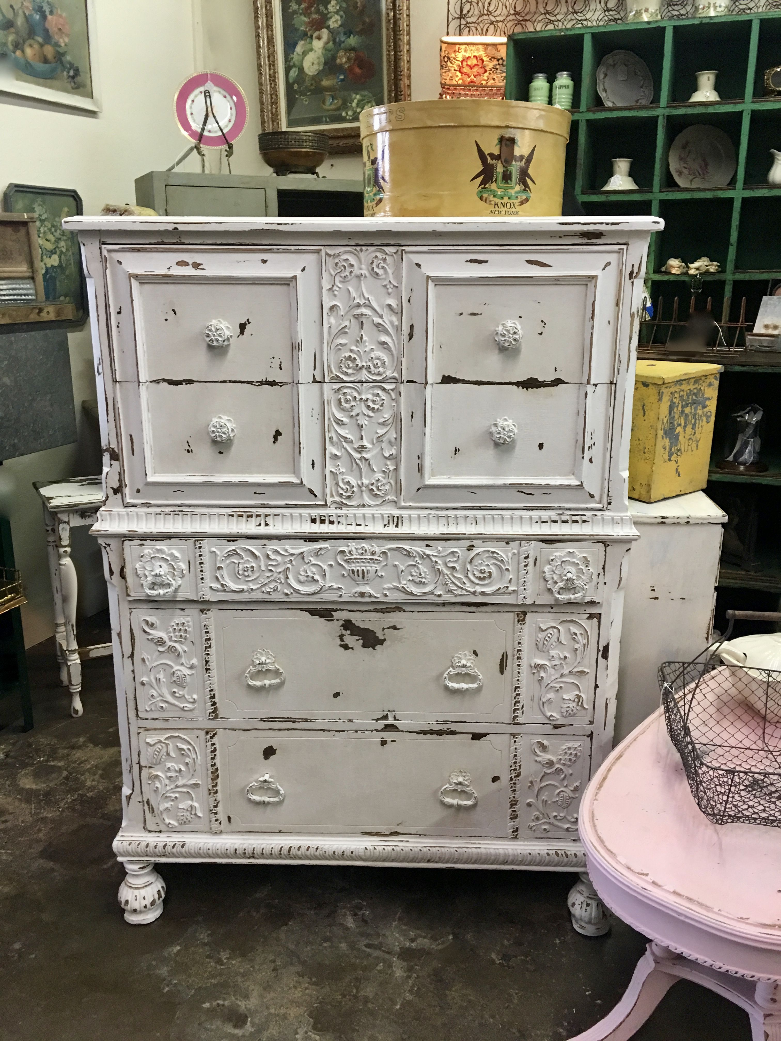 zoom drawers chic chest shabby cottage furniture of