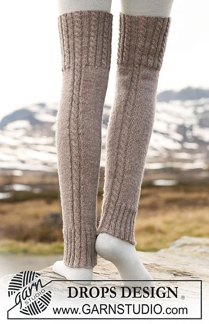 Drops Knitted Legwarmers Knitting Template Pattern Pattern