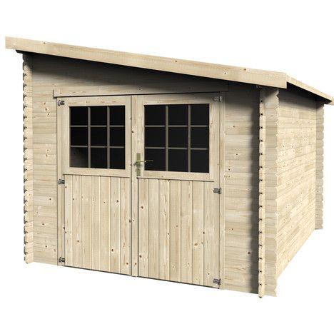 petit abri de jardin bois adossable ventspils kamelya veranda ardak pinterest. Black Bedroom Furniture Sets. Home Design Ideas