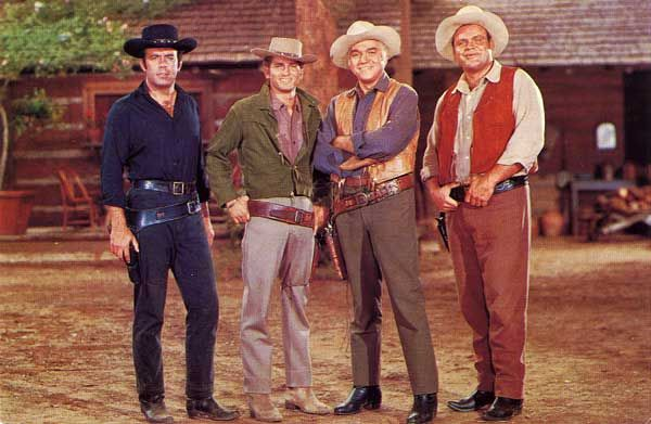 The other King of the 60's Westerns...Bonanza. It ran from 1959-1973. Also a 3 decade series.