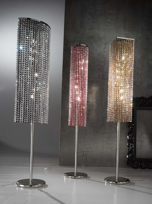 Divine Tall Crystal Floor Lamp (3 Styles & 4 Colours) - Divine Tall Crystal Floor Lamp (3 Styles & 4 Colours) Things
