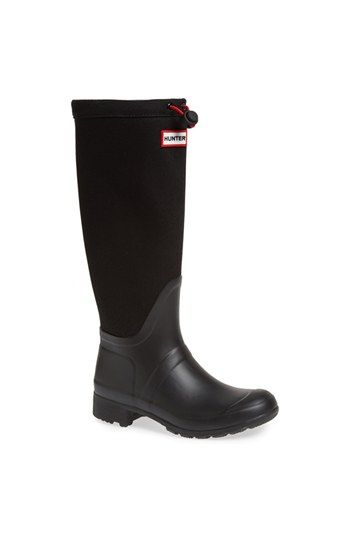 Hunter 'Tour' Packable Canvas Rain Boot (Women) | Nordstrom, these would be great for school!