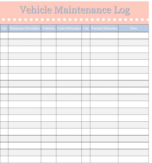 home maintenance log