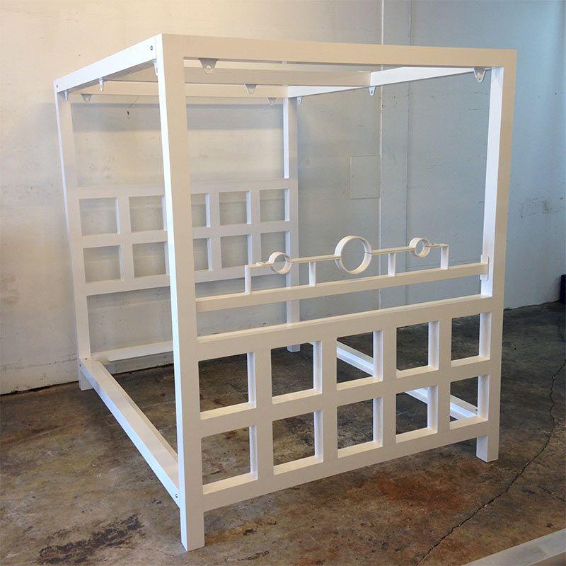 White Powdercoat Bdsm Window Pain Bed W Stockade Dreams Bed