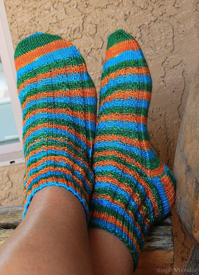 Slip Stitch Stripey Free Sock Pattern Simply Notable Socks