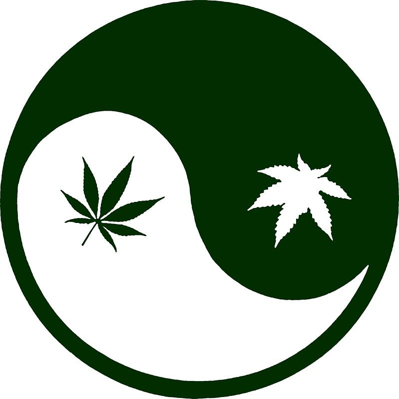 weed yinyang queen of dabbing pinterest weed stickers and rh pinterest com Yin and Yang Wolf Yin Yang Tumblr