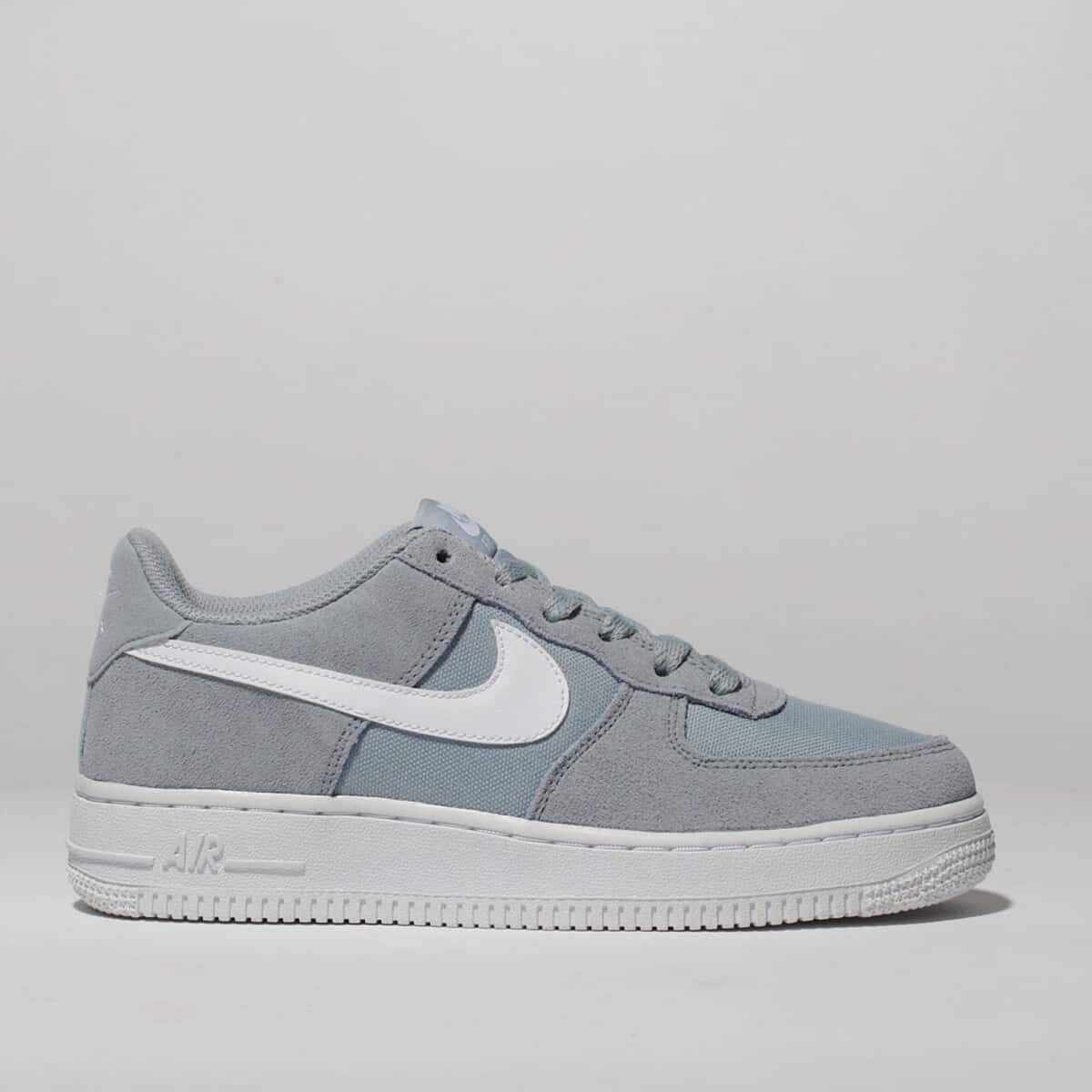 light grey nike air force 1 trainers