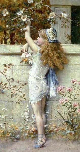 Gathering Flowers. William Stephen Colleman.