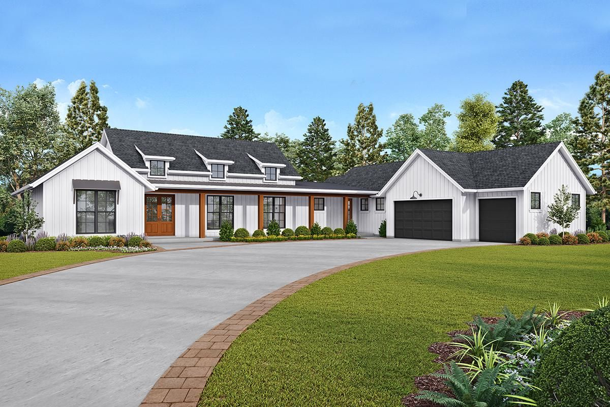House Plan 255900819 Modern Farmhouse Plan 2,495
