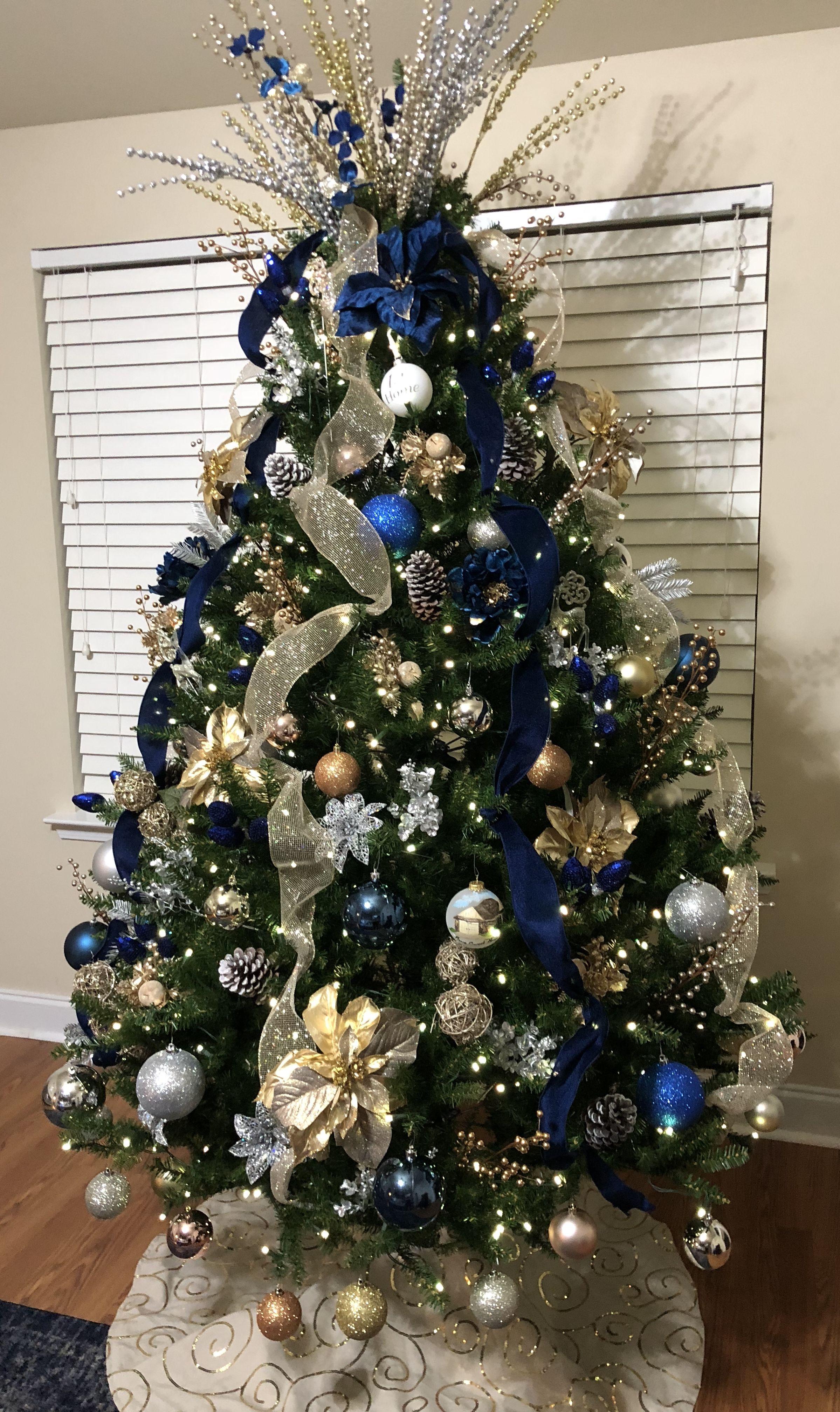 Blue And Gold Christmas Tree Blue Christmas Tree Decorations Gold Christmas Tree Decorations Blue Christmas Tree